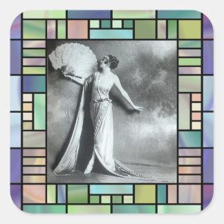 Sticker Carré Élégance vintage 1