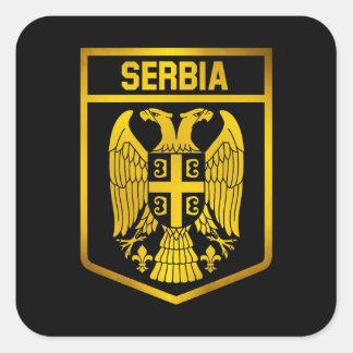 Sticker Carré Emblème de la Serbie
