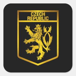 Sticker Carré Emblème de République Tchèque