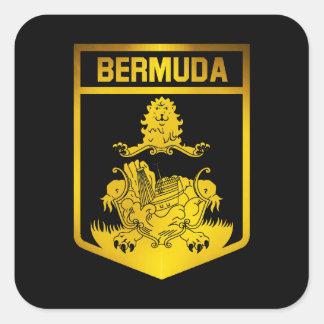 Sticker Carré Emblème des Bermudes
