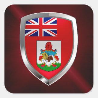 Sticker Carré Emblème des Bermudes Mettalic