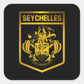 Sticker Carré Emblème des Seychelles