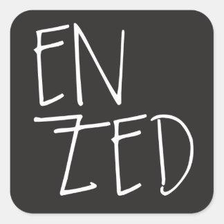 """Sticker Carré """"En Zed"""" Nouvelle Zélande"""