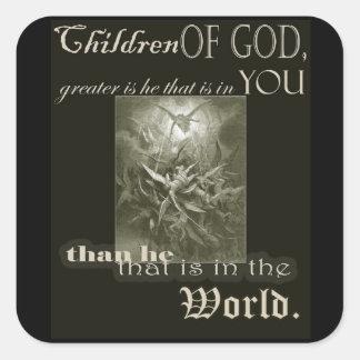 Sticker Carré Enfants de Dieu