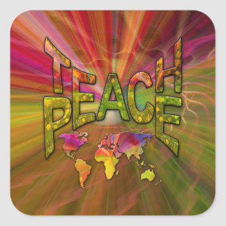 Sticker Carré Enseignez la paix
