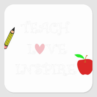 Sticker Carré enseignez l'amour inspire2