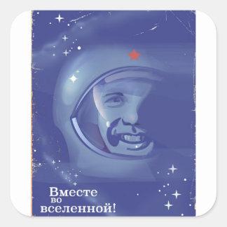 Sticker Carré Ensemble dans l'univers !