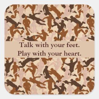Sticker Carré Entretien avec vos pieds