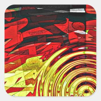 Sticker Carré Esprit d'abstractions