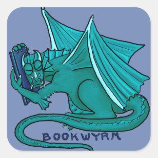 Sticker Carré Étreinte Bookwyrm de livre