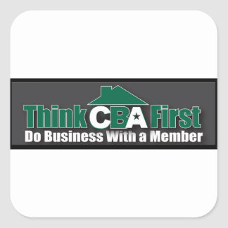 Sticker Carré Faites les affaires avec un membre