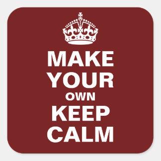 Sticker Carré Faites vos propres garder le calme et continuer