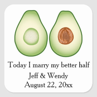 Sticker Carré Faveur de mariage d'avocat