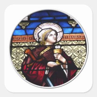 Sticker Carré Fenêtre en verre teinté de Barbara de saint