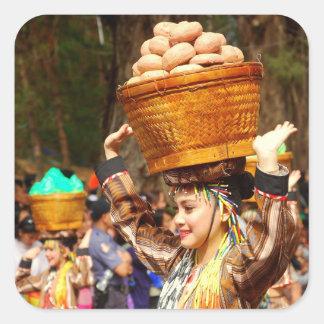 Sticker Carré Festival de Panagbenga