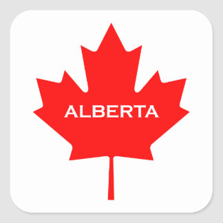 Sticker Carré Feuille d'érable d'Alberta Canada