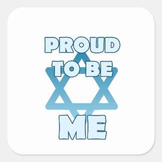 Sticker Carré Fier d'être juif