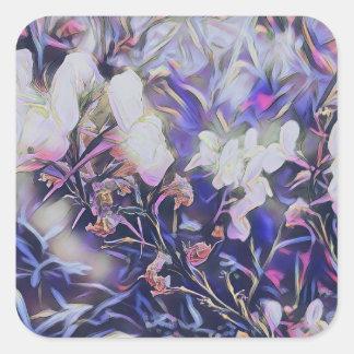Sticker Carré Fleurs sauvages de printemps dans la collection de