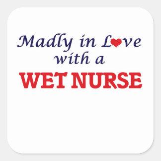 Sticker Carré Follement dans l'amour avec une infirmière humide