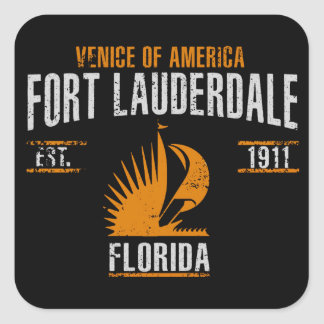 Sticker Carré Fort Lauderdale
