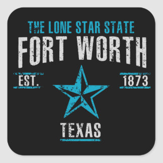 Sticker Carré Fort Worth