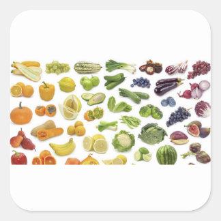 Sticker Carré Fruits et légume !
