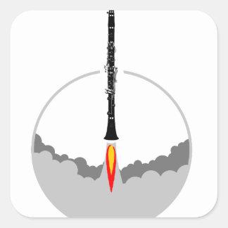 Sticker Carré fusée de clarinette