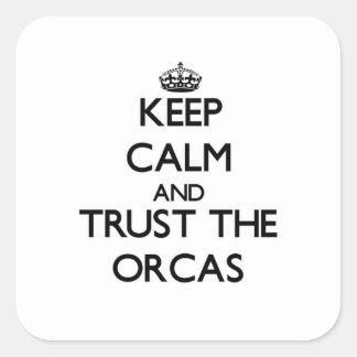 Sticker Carré Gardez le calme et faites confiance aux orques