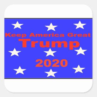 Sticker Carré Gardez le slogan politique de l'atout 2020 de
