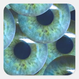 Sticker Carré globes oculaires déplaisants