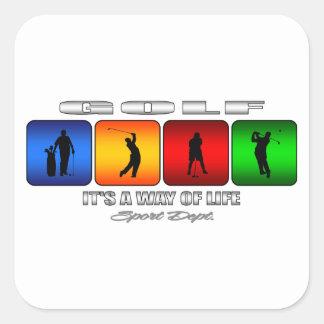 Sticker Carré Golf frais c'est un mode de vie