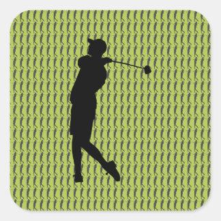 Sticker Carré Golfeur