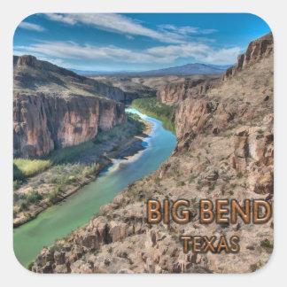 Sticker Carré Grand Rio Grande de parc national du Texas de