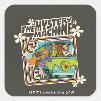 Sticker Carré Graphique de machine de mystère a Lit de