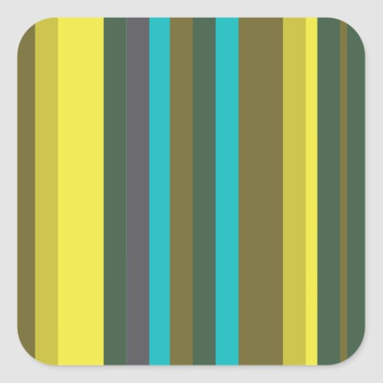 Sticker Carré Green_stripes