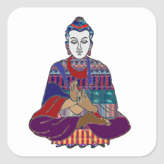 Sticker Carré Guérison de culte de paix de religion de