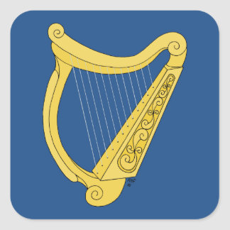 Sticker Carré Harpe irlandaise