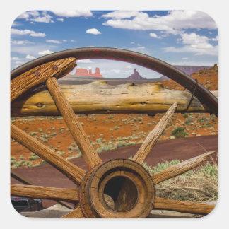 Sticker Carré Haut étroit de roues, Arizona