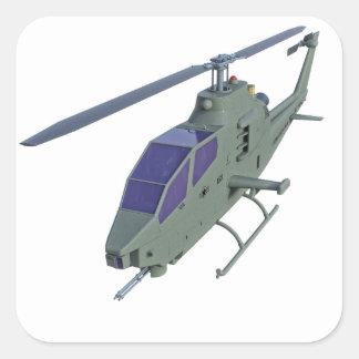 Sticker Carré Hélicoptère d'Apache dans la vue de face