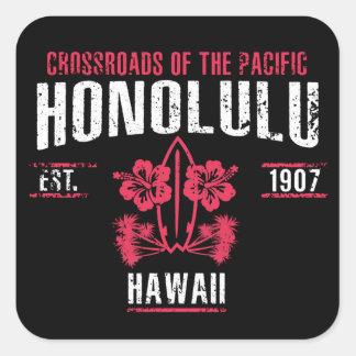 Sticker Carré Honolulu