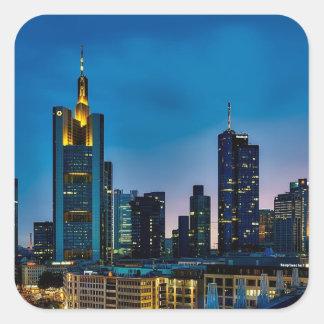 Sticker Carré Horizon de Francfort Allemagne