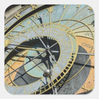Sticker Carré Horloge astronomique dans la République Tchèque de