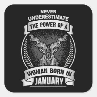 Sticker Carré Horoscope janvier