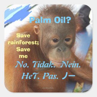 Sticker Carré Huile de withPalm de changement climatique
