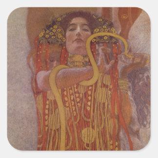 Sticker Carré Hygeia par Gustav Klimt