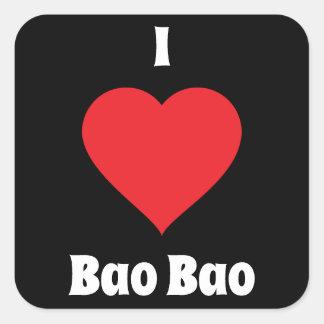 Sticker Carré I coeur Bao Bao