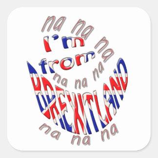 Sticker Carré I, m de brexitland
