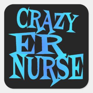 Sticker Carré Infirmière folle d'ER