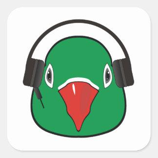 Sticker Carré Inséparable avec l'écouteur