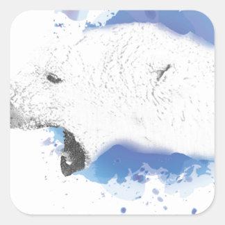 Sticker Carré Iorek, ours blindé de ses matériaux foncés